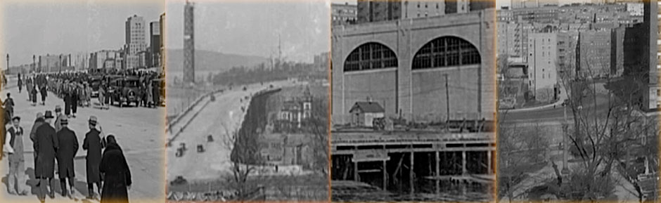 collage of Viaduct ceremony 1928
